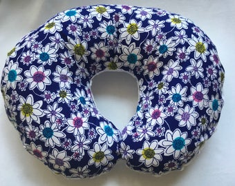 Nursing Pillow Cover, Baby Girl Shower Gift, Floral Boppy Cover,