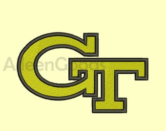 Georgia Tech Yellow Jackets GT Embroidery  design 8 Size  INSTANT download machine embroidery