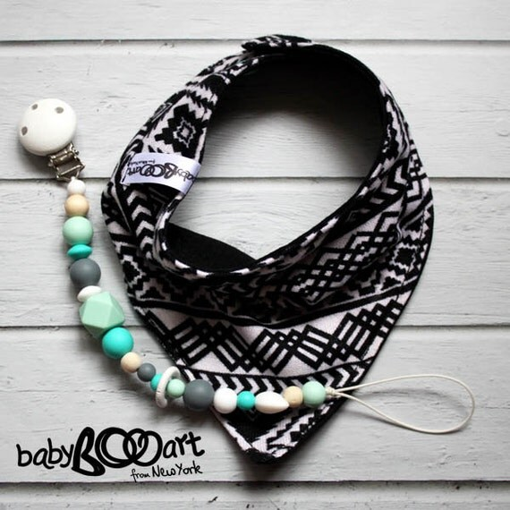 Bandana bib | baby boy bibdana | hipsterbaby |  Bandana+Pacifier clip |