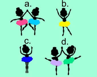Ballerina Decal - Ballerina Silhouette Decal - Dance Decal
