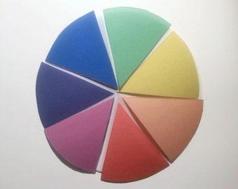 Montessori colors, color wheel. color blends, basic colors, Montessori inspired colour box