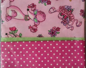 Perfectly Pretty Poodle Princess Pillowcase - 22 x 31 inches