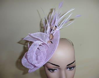 Lilac Fascinator,Lilac Wedding Hat,Lilac Ascot Race Hat,Lilac Wedding Fascinator,Wedding Hat,Occasion Hat ,Ascot Race Hat