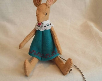 Handmade wool felt mouse