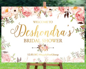 Bridal Shower sign, Bridal Shower Welcome Sign, Bridal Shower decoration, welcome wedding sign, Bridal shower banner - US_BSb5