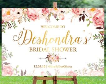 Bridal Shower sign, Bridal Shower Welcome Sign, Bridal Shower decoration, welcome wedding sign, Bridal shower banner - US_BSb5