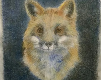 "RED FOX 11"" X 14""  8""x10"" Mat (PRINT)"