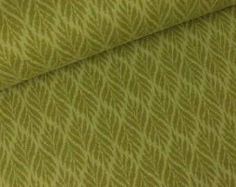 Cotton flannel Westminster leaves olive (13.90 EUR / meter)