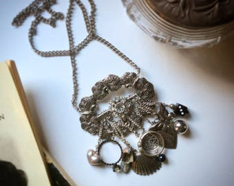 Arabella upcycled reclaimed repurposed vintage Steampunk Necklace