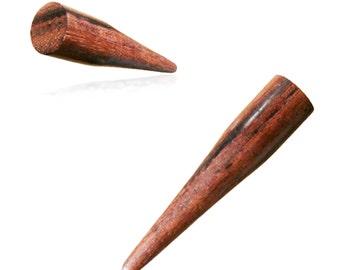 "2ga, 0ga, 00ga, 1/2"" , Sono Wood Stake Expander Ear Plug Wooden Gauges Hanging Earrings Pair"