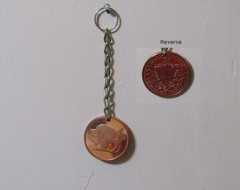 Copper round Key-chain bling