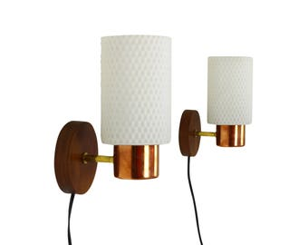 Set of two wall sconces by Philips Holland, 1960s