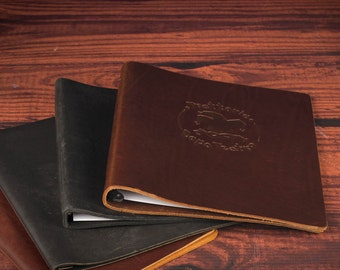 Leatherview™ Menu. Genuine Leather Restaurant Menu Cover. Multi-Page. 25-Pack