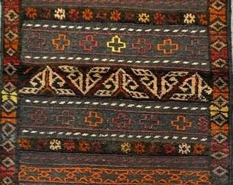 Afghan tribal Berjesta kilim rug 100% wool