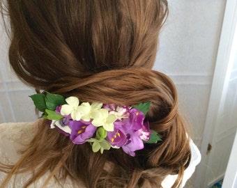 Barrette for hair, hair clip, hair flower accessories, wedding flower barrette