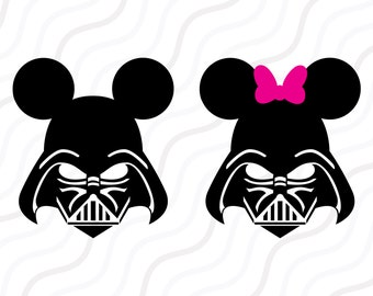 Disney Darth Vader SVG, Star War Mickey SVG, Mickey SVG Cut table Design,svg,dxf,png Use With Silhouette Studio & Cricut_Instant Download