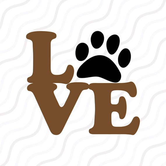 Download Love Paw SVG Puppy Love svg Paw Print SVG Cut table