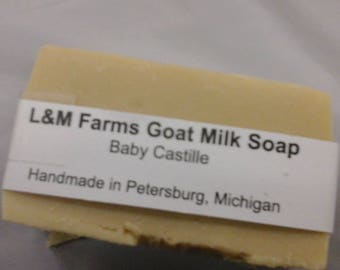 Baby castille goat milk soap