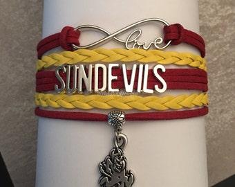 Arizona Sun Devils Infinity Love Bracelet