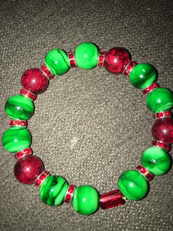 Merry Christmas keychain bracelet! One of a kind.