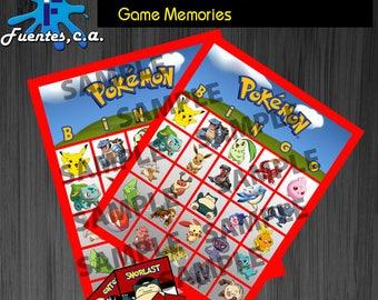 Bingo Pokemon, Free Memories Pokemon, Game Party, Pokemon go Party