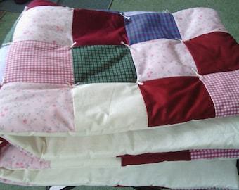 Crib Size Patchwork Baby Quilt