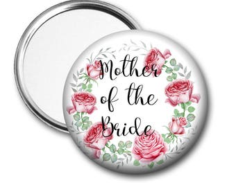 Blooms Mother of the Bride 58 mm 2.5 inch Pocket Mirror