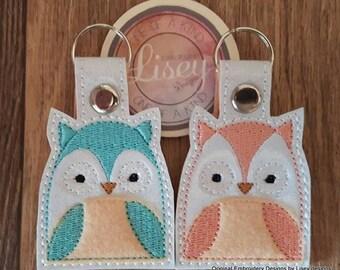 Digital File: 2 Owl Key fobs by Lisey Designs