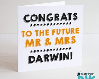 Personalised Wedding Engagement Card - Congrats To The Future Mr & Mrs