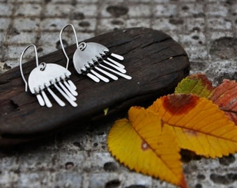 Sterling Silver earrings Rain