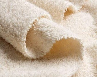 COTTON terry:  very soft bath / hand towels, handmade from unbleached organic cotton terry fabric (MAALIKAA collection)