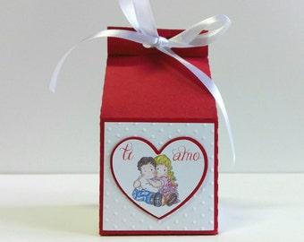 Box milk box for Valentine's day