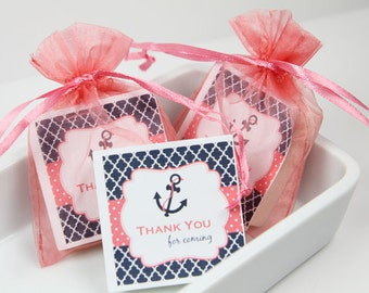 Nautical Baby Shower Soaps Baby Shower Favors /Set Of 16