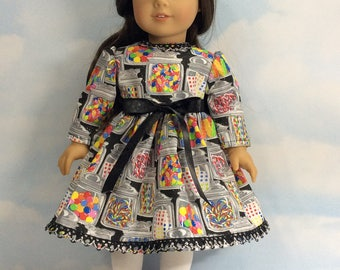 "Party penny candy dress for 18""American girl dolls"