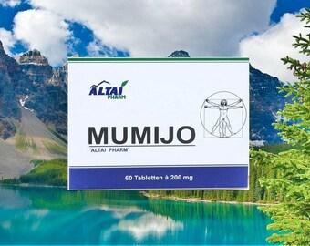 Pure Siberian Shilajit Tablets,Mumio,Mumijo,Mumiyo  60 x 200mg,
