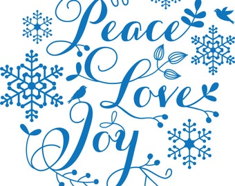 Peace Love Joy Wall Decal Art Print