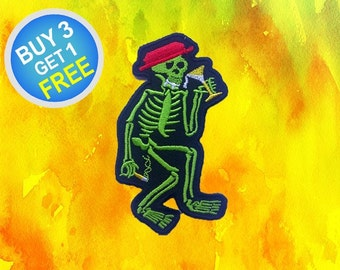 Skeleton Patches Skeleton Pair Patches Patch Iron On Patch Embroidered Patches