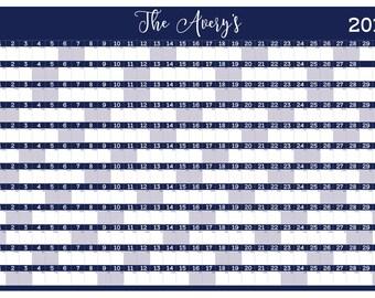 Custom Dry Erase Wall Calendar