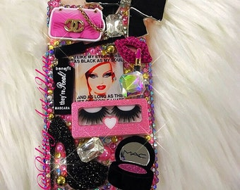 Pink Barbie Makeup Case Cover - IPhone 6 Plus