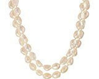 """Real Freshwater Pearl Necklace 64"""" Strand (Natural Nugget Shape, Various colors available)"""