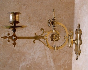 Pair of French Piano or Wall Sconces for Candles.