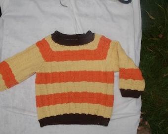 Baby Merino sweater in the pattern mix