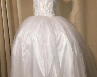 First Communion dress, Christening dress ready to ship size 16, holy communion dress