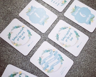 Bloom Baby Boy Milestone Cards