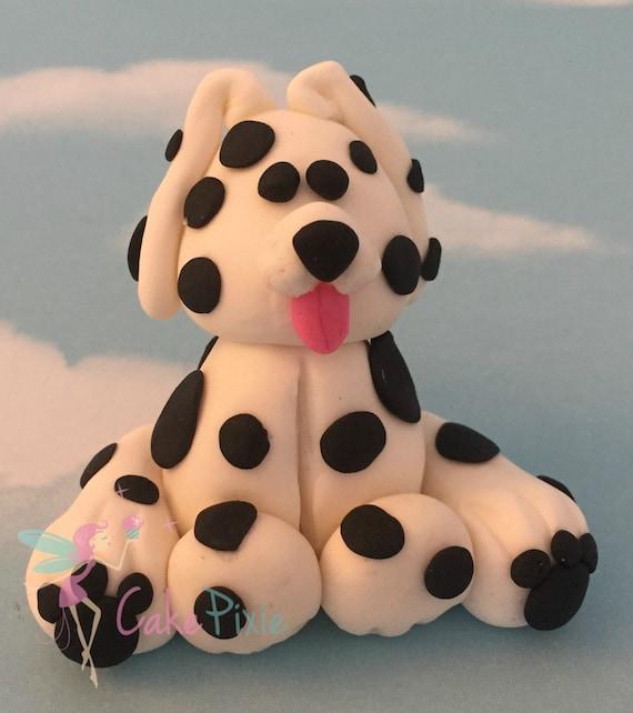 Dalmatian Dog Fondant Cake Topper. Edible Figures. Cake ...