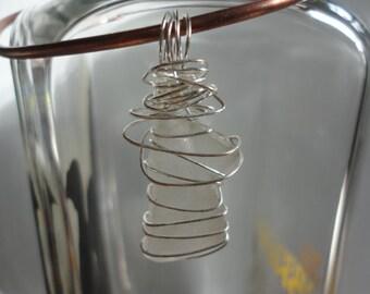 Sea Glass & Wire Wrapped Pendant 2