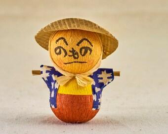 Henohenomoheji scarecrow toy, Okiagari-koboshi (Roly-poly toy). Vintage, Japanese traditional children toy.
