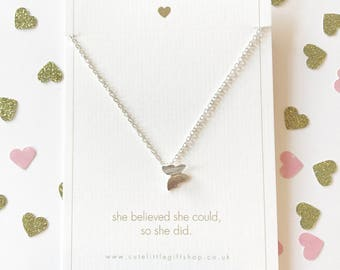 Pretty Butterfly Necklace - Silver