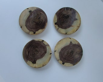 Black Walnut Wood Coasters - Set of 4