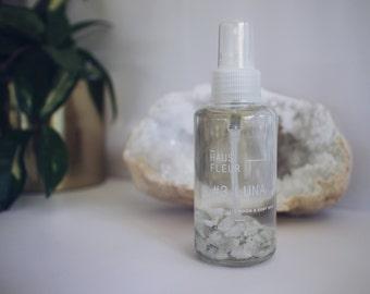LUNA / Crystal infused room & body mist / Rainbow moonstone / dōTERRA essential oils.